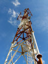Telecommunications Transmitter Tower Stock Photo