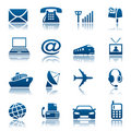 Telecoms & transportation icons Royalty Free Stock Photo