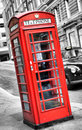 Telefon cabine in London Stockfotografie