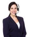Telemarketing representative isolated on white background Stock Photography