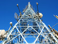 Telephone antenna Royalty Free Stock Photo