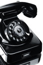 Telephone black bakelite close up Royalty Free Stock Photography