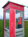 Telephone booth and device of a cable telephony Royalty Free Stock Image