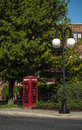 Telephone booth london style in town of mount royal montreal quebec Stock Images