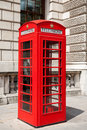 Telephone booth london uk red box in england Stock Images