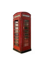 Telephone booth old dilapidated british Stock Image