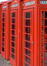 Telephone booths Stock Images