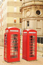 Telephone booths Royalty Free Stock Image