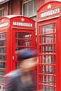 Telephone booths in London Stock Image