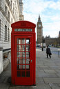 Telephone box and Big Ben Stock Photos