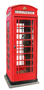 Telephone box english red isolated on white background Stock Images