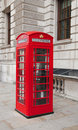 Telephone Box in London Royalty Free Stock Image