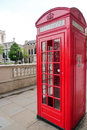 Telephone box in london england Royalty Free Stock Photo
