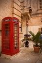 Telephone box in Malta Royalty Free Stock Image