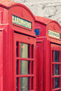 Telephone box photo of red traditional Royalty Free Stock Photo