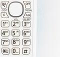 Telephone button on white background Stock Photo