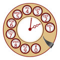 The telephone clock Stock Image