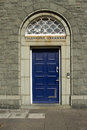 Telephone exchange doorway. Royalty Free Stock Photography