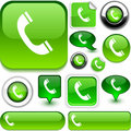 Telephone green signs. Royalty Free Stock Photography