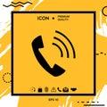 Telephone handset, telephone receiver symbol icon