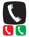 Telephone icon vector illustration of the Royalty Free Stock Images