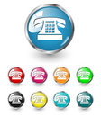 Telephone icon vector set Stock Image