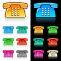 Telephone icons Royalty Free Stock Image