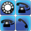Telephone icons collection Stock Photos