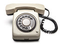Telephone isolated over white background Royalty Free Stock Photo