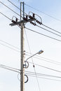 A telephone pole Royalty Free Stock Photo