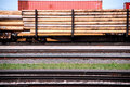 Telephone poles on a train Stock Photography