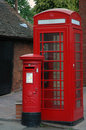 Telephone and Post Boxes Stock Photos