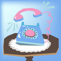 Telephone ringing Royalty Free Stock Photos