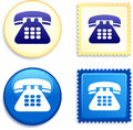 Telephone stamp and button original vector illustration buttons collection Stock Images