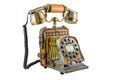 The telephone in style of a retro on white background Royalty Free Stock Images