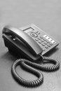 Telephone on table black normal Royalty Free Stock Photography