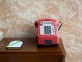A telephone traditional on table Royalty Free Stock Photos
