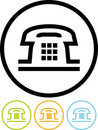 Telephone - Vector icon isolated on white Stock Photo