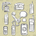 Telephones collection Royalty Free Stock Photography