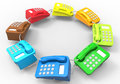Telephones - color diversity concept Royalty Free Stock Photo