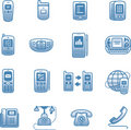 Telephones, mobile phones and devices  icon Royalty Free Stock Photo