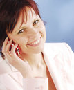 Telephoning Royalty Free Stock Photo