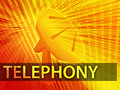 Telephony illustration Royalty Free Stock Photo