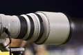 Telephoto lens a mm in a blur background Royalty Free Stock Photography