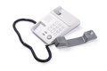 Telepphone off the hook on a white background Royalty Free Stock Photo