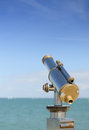 Telescope coin opperated to view the seascape on a french island Royalty Free Stock Photography