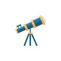 Telescope flat icon, Education and astronomy