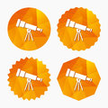 Telescope icon. Spyglass tool symbol. Royalty Free Stock Photo