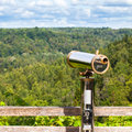 Telescope to observe the landscape nature Stock Image