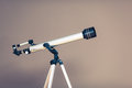 Telescope on tripod Royalty Free Stock Photo
